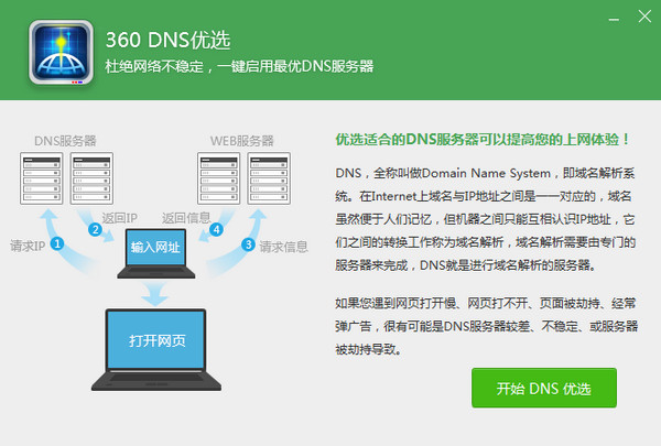 360DNS优选工具中文版下载