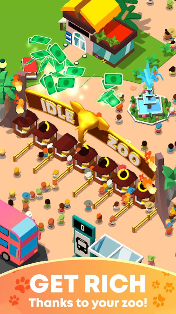 闲置动物园世界游戏