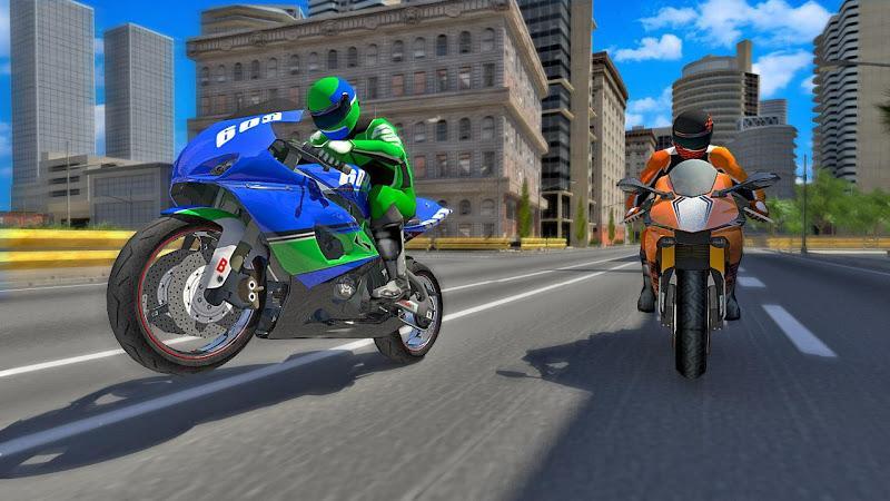 摩托车赛车手游戏